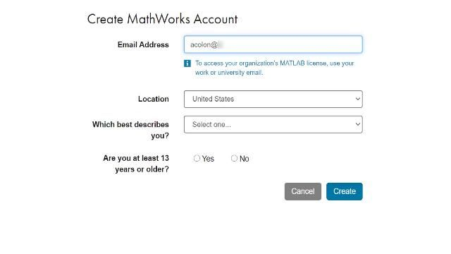 If you are at a university with a portal for a Campus-Wide License, follow these steps to create a MathWorks Account and get started.