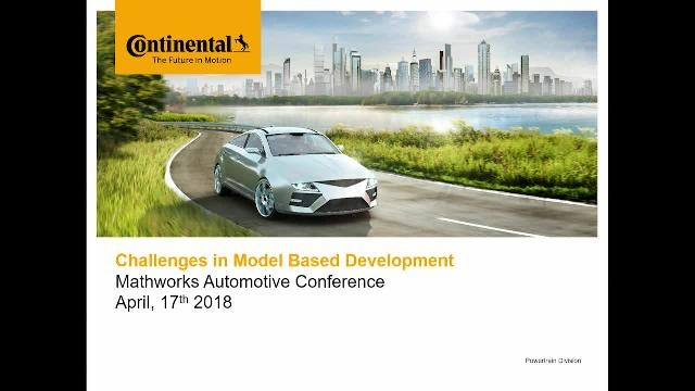 This talk presents the challenges of integrating Model-Based system engineering with Model-Based Design for control algorithms and agile methods for software implementation.