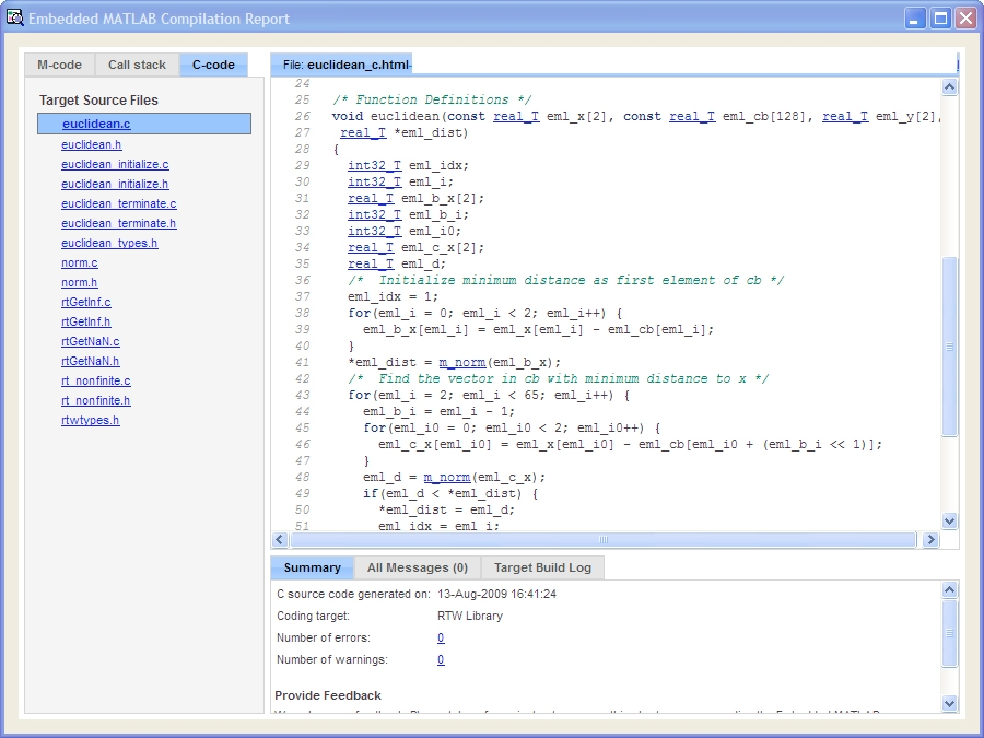 Best Practices for a MATLAB to C Workflow Using Real-Time