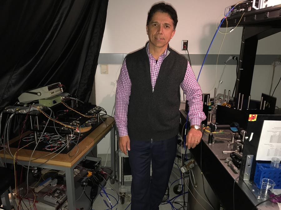 Figure 1. Dr. Jalali with the TS-QPI system.