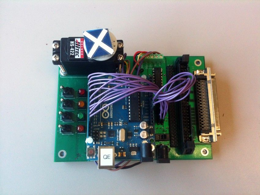 Arduino Board connected to the DC motor