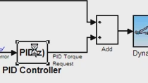 This example shows the setpoint tracking response of the closed-loop system with this initial PID design. (No Audio)