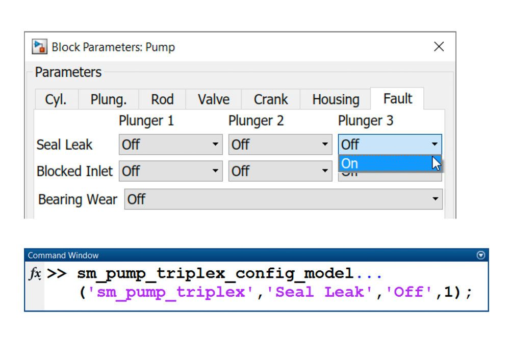 Figure 5. Modeling leakage in the triplex pump.