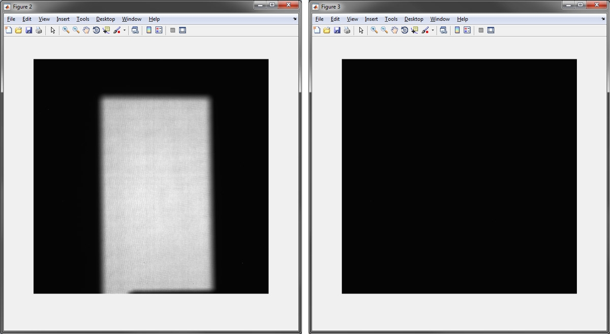 Figure 3: OpenBeamData image and DarkFieldData image.