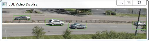 Figure 4. Simulink external mode detection of cars during algorithm development phase.