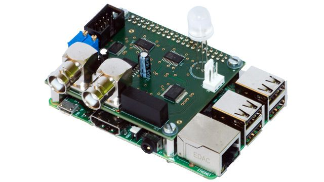 Interface board designed to connect Raspberry Pi to experiment.