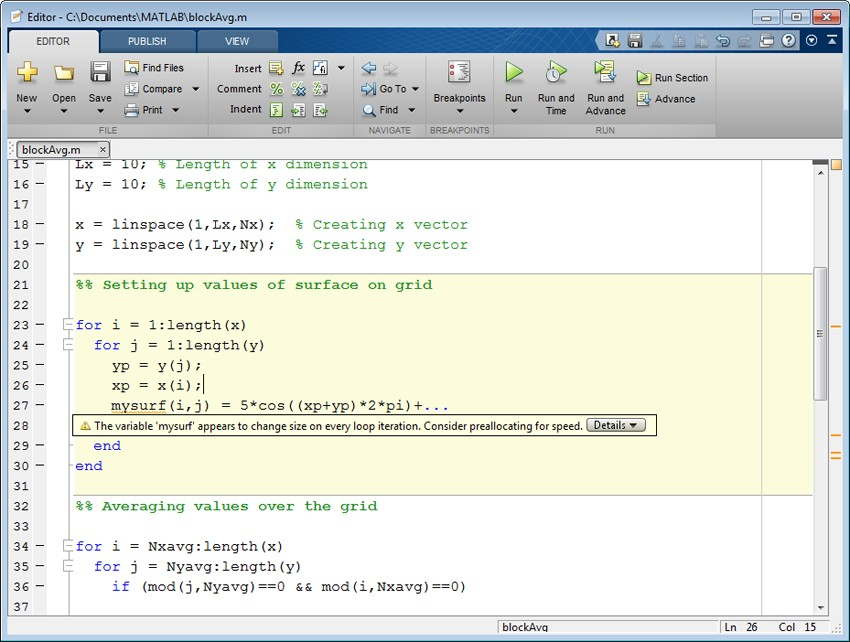 how to work out magnitude on matlab