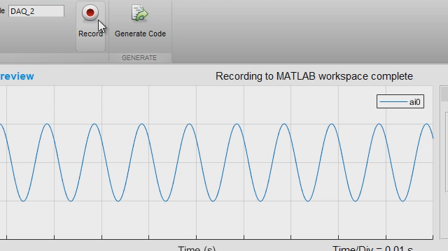 Automate Data Acquisition in MATLAB Using the Analog Input Recorder