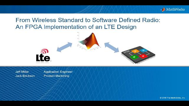 From Wireless Standard to Software Defined Radio: An FPGA