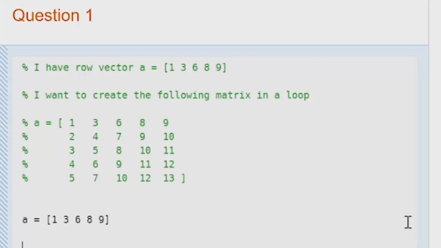 Storing Data in a Matrix from a Loop - Video - MATLAB