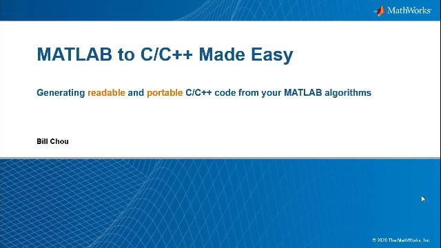 Integrate Code into Visual Studio using MATLAB Coder - Video