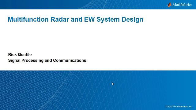 Multifunction Radar System Design Video - MATLAB & Simulink