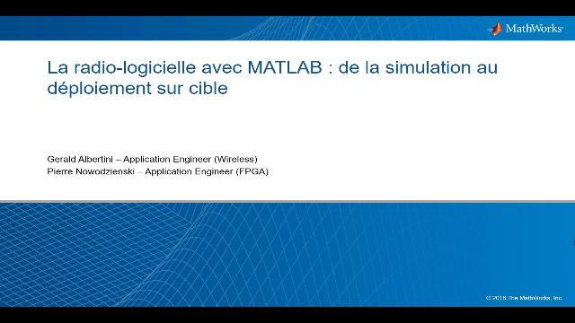 La radio-logicielle avec MATLAB : de la simulation au déploiement