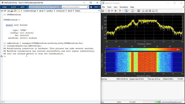 Waveform Generation Using MathWorks SDR Video - MATLAB & Simulink