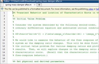 Publish MATLAB Examples for Teaching and Research - MATLAB & Simulink