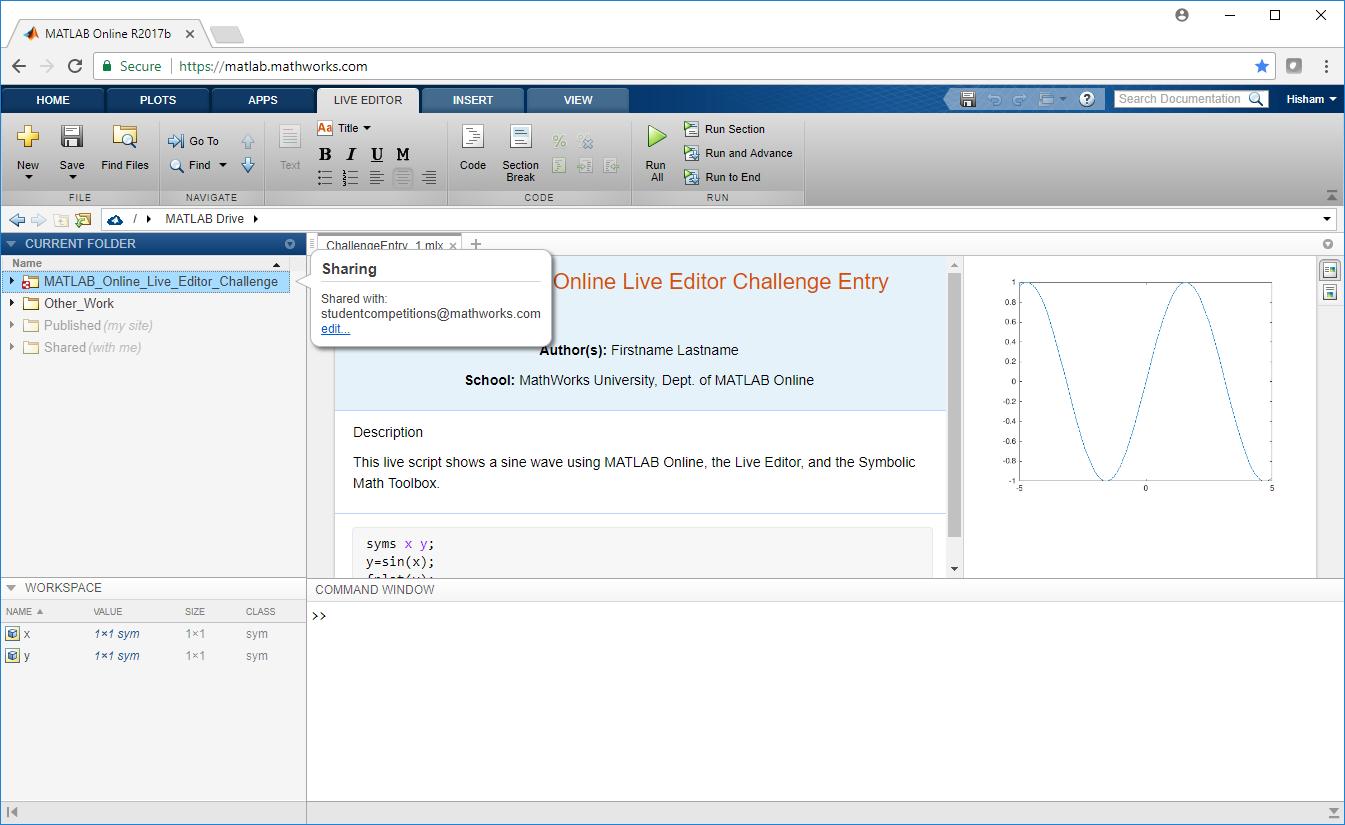 Matlab Online Live Editor Challenge 2018 Matlab Simulink