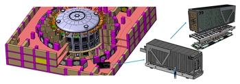 Figure 1. A cut-out illustration of the Tokamak building with a CPRHS vehicle.