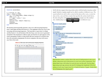 Figure 3. Student annotations showing code selected for copying and text highlighted for later review.