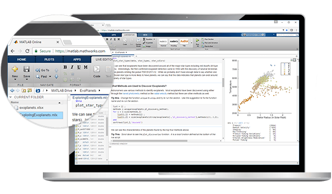 matlab online matlab simulink access matlab from your web browser