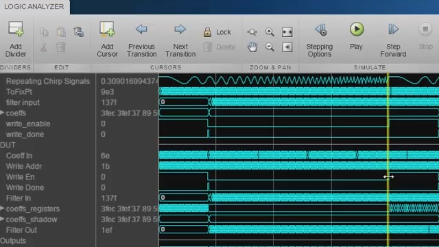 Stream heterogeneous Simulink® signals to the Logic Analyzer to perform advanced analysis and debugging.