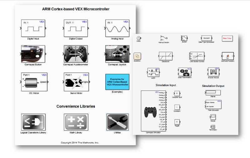 VEX ARM Cortex Support from Simulink - Hardware Support