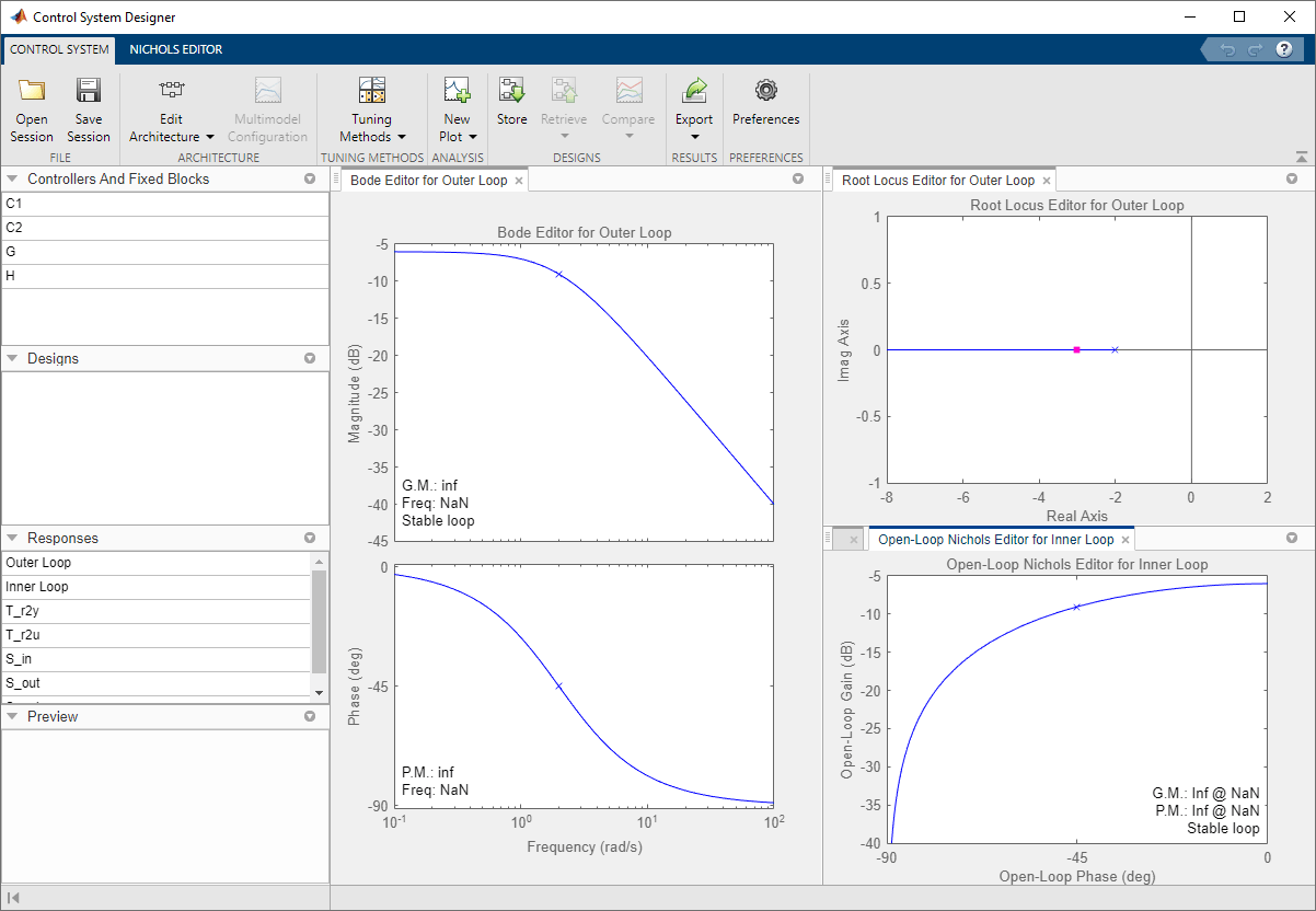 Design single-input, single-output (SISO) controllers - MATLAB