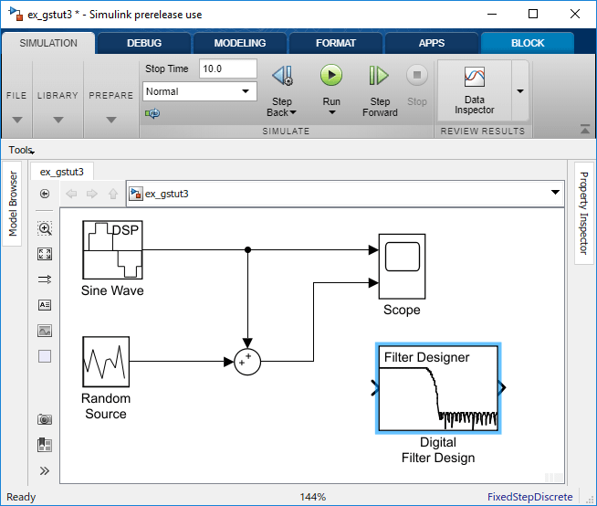 Design And Implement A Filter Matlab Simulink