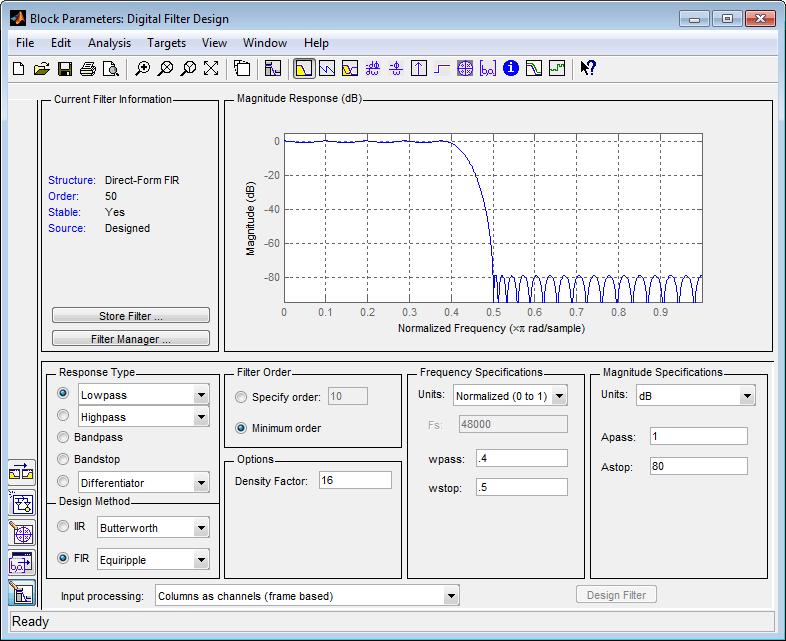 Analog Filter Design Online