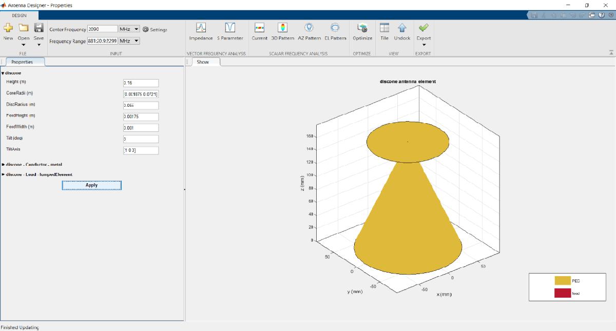 Design Visualize And Analyze Antennas Matlab