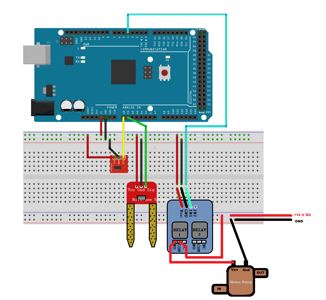 Arduino Based Smart Watering Of Plants Matlab Simulink Example Schematic Rain Sensor Circuit Task 2 Create A Model To Implement System