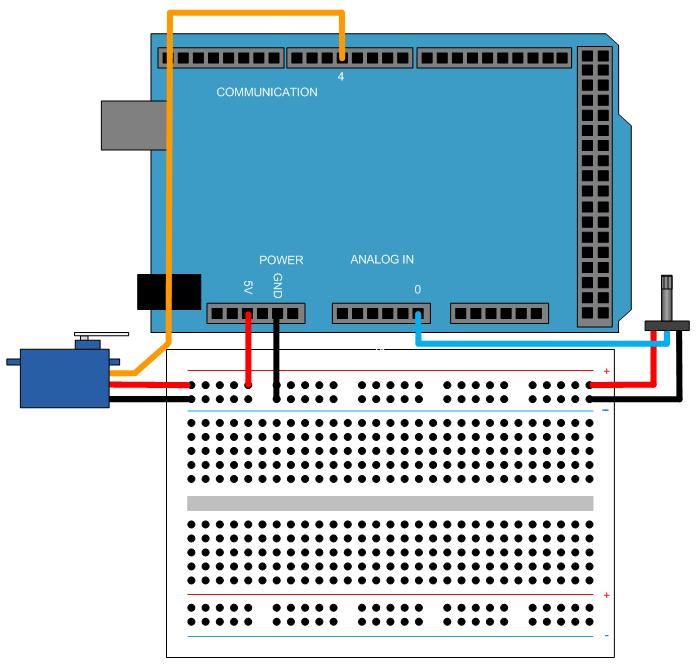 Servo control matlab simulink example