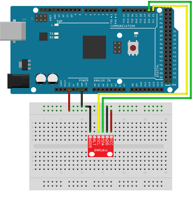 arduino_I2C_temp_connection read temperature from an i2c based sensor using arduino hardware  at panicattacktreatment.co