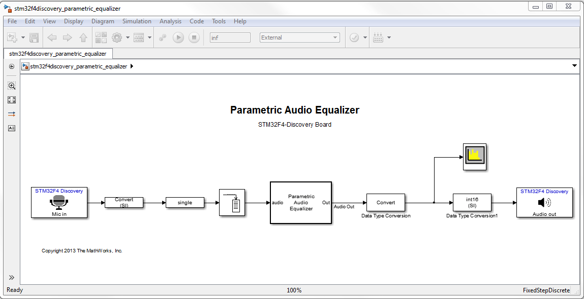 Parametric Audio Equalizer for ARM Cortex-M Processor
