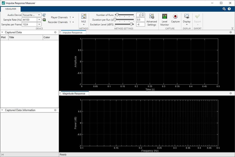 Measure Impulse Response of an Audio System - MATLAB & Simulink