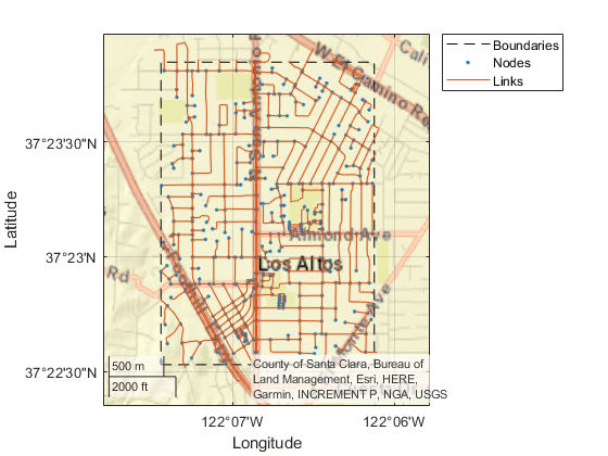 Plot HERE HD Live Map layer data - MATLAB plot