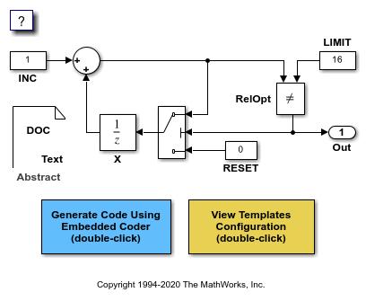 Format Generated Code Files Using Templates Matlab Simulink Example