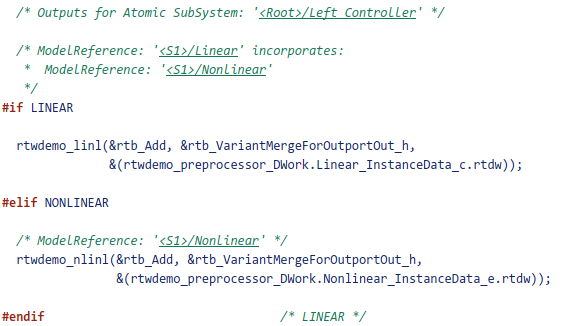 Use Variant Models to Generate Code That Uses C Preprocessor