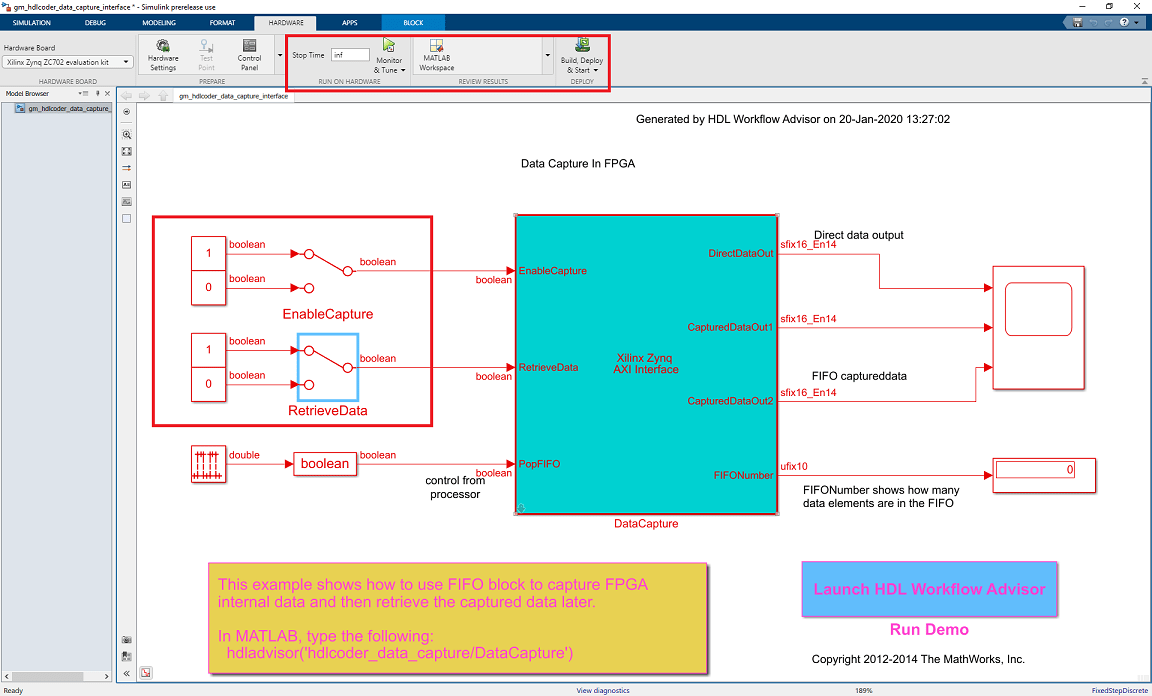 Debug A Zynq Design Using HDL Coder And Embedded