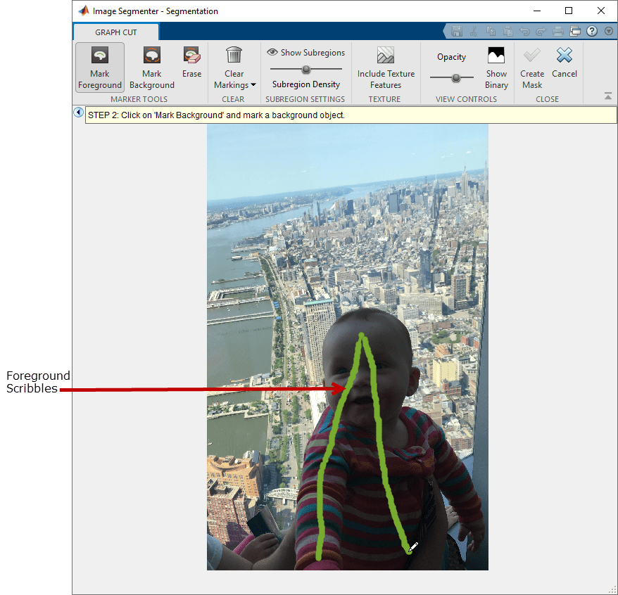 Segment Image Using Graph Cut In Image Segmenter Matlab Simulink