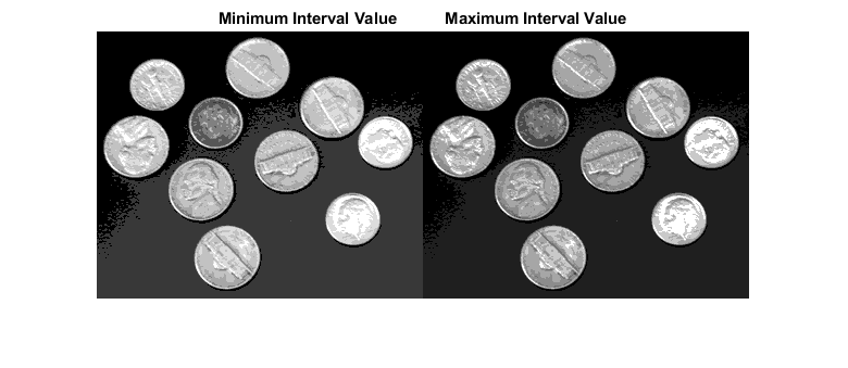 Quantize image using specified quantization levels and output values