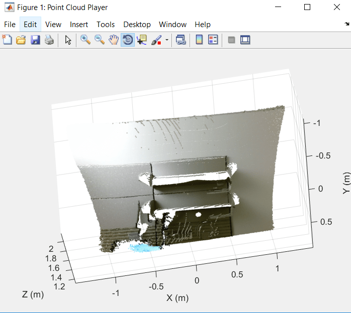 Plot colored point cloud from Kinect for Windows - MATLAB