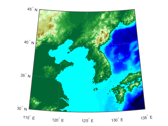 Construct Map Axes For Given Region Of World Matlab Worldmap