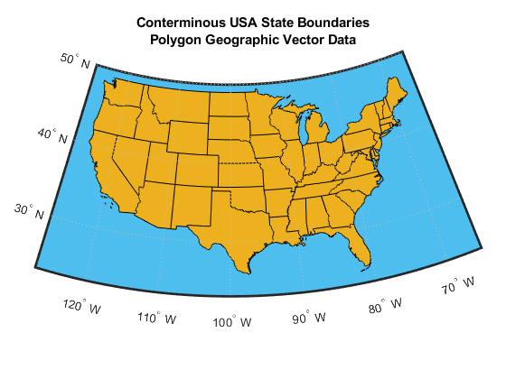 Creating Map Displays with Latitude and Longitude Data MATLAB