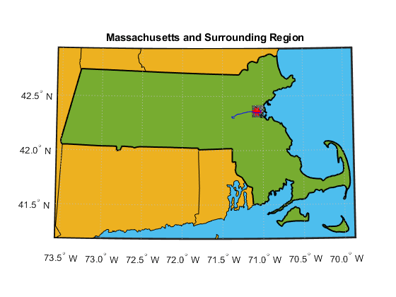 D Map States Using Lat And Us - D3 us map