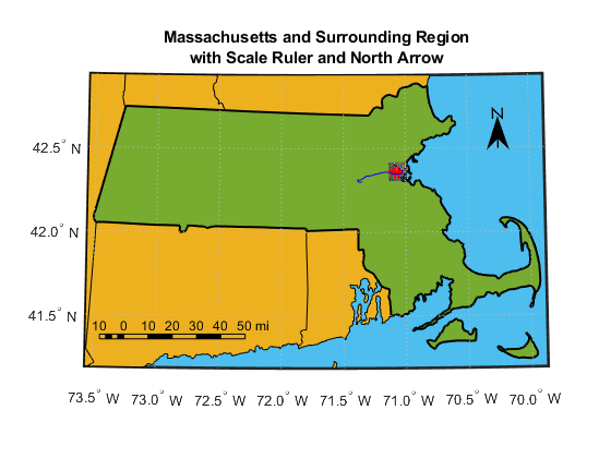 Creating Map Displays with Latitude and Longitude Data MATLAB