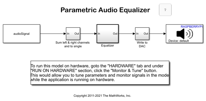 Parametric Audio Equalizer - MATLAB & Simulink Example