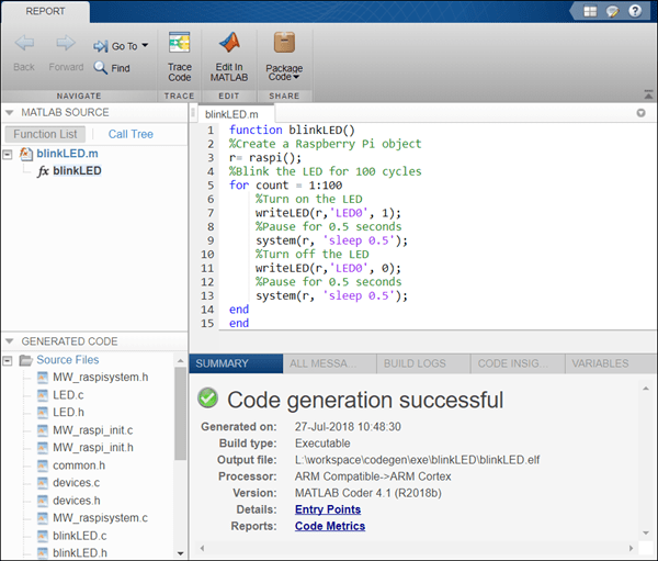 Getting Started with Deploying a MATLAB Function on the