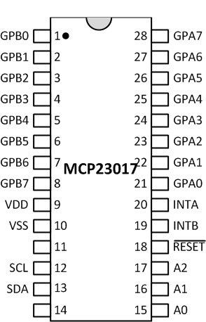 Add Digital I/O Pins to Raspberry Pi Hardware Using MCP23017