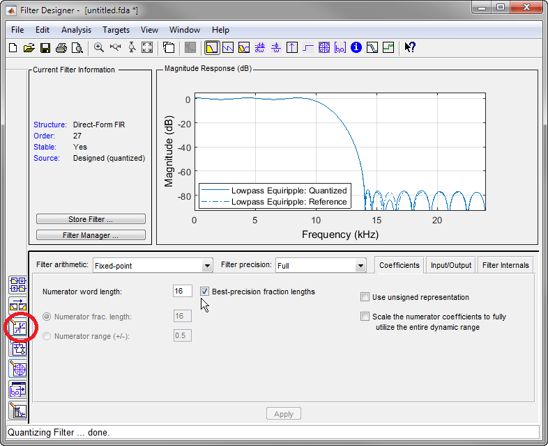 Introduction To Filter Designer Matlab Simulink Example