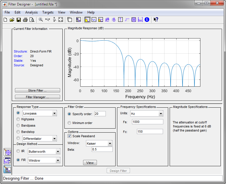 Filtering Data With Signal Processing Toolbox Software Matlab Simulink